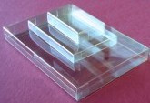 "4 1/4"" x 9 9/16"" Business Size Clear Box - BXB10"