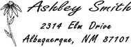 Custom Self Inking Flower Address Stamp