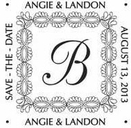 Custom Save The Date Regular Rubber Stamp