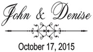 Custom Wedding Regular Rubber Stamp