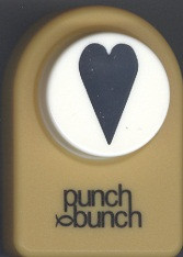 Folk Heart Medium Punch