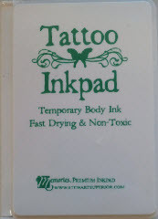 Green Tattoo Temporary Body Ink Pad