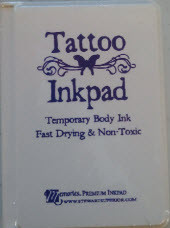 Purple Tattoo Temporary Body Ink Pad