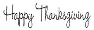 Happy Thanksgiving - 199H05
