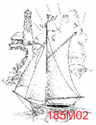 Sailboat with Lighthouse - 185M02
