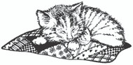 Quilt Kitty Rubber Stamp - 20A06