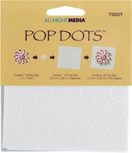 White Round Pop Dots 1/2""