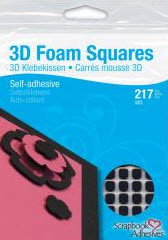 Black 3D Foam Squares Assorted
