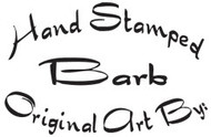 Handstamped By Custom Rubber Stamp