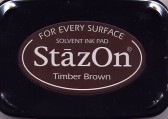 Timber Brown StazOn Ink Pad