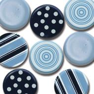 Blue Big Round Brads