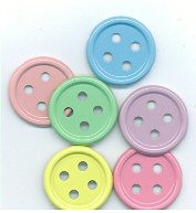 Button Pastel Medium Brads