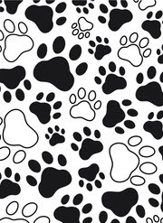 Paw Print Background Embossing Folder