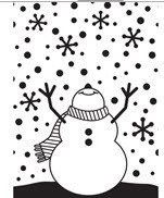Snowman Arms Up Embossing Folder