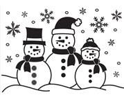Snowmen Embossing Folder