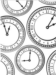 Clock Embossing Folder