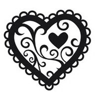 Valentine Heart Embossing Folder