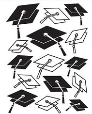Graduation Hats Embossing Folder
