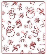 Christmas Background Embossing Folder