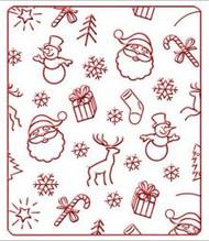 Christmas Background Embossing Folder