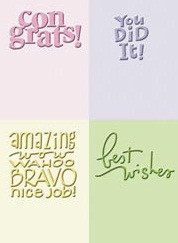 Congrats Embossing Folder Set