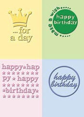 Happy Birthday Embossing Folder Set