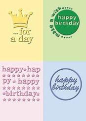 Happy Birthday Embossing Folder Set