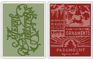 Merry Christmas & Vintage Holiday  Embossing Folder Set