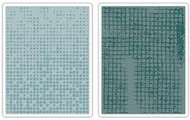 Dot Matrix & Gridlock Embossing Folder Set