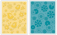 Birds & Flowers Embossing Folder Set
