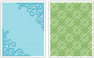 Corners & Lattice Embossing Folder Set