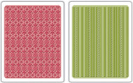 Peppermint Twists & Scallops and Lines Embossing Folder Set
