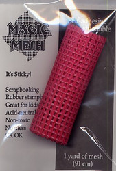 Raspberry Fine Weave Magic Mesh
