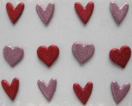 Glitter Heart Large Brads