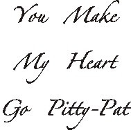 Pitty Pat Rubber Stamp - 179W01