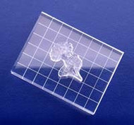 "2"" x 5"" Grid Line Clear Acrylic Block"