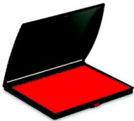"2 1/4"" x 3 1/2"" Red Felt Ink Pad"