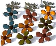 Stitched Fall Flower Brads