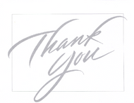Thank You Silver Note Cards