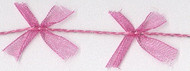 Magenta Organdy Bow Cord