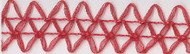 Red Double Organdy Cord