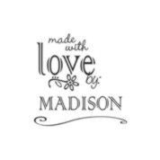 Made With Love Custom Rubber Stamp