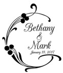 Custom Wedding Rubber Stamp