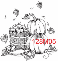 Fall Festival Rubber Stamp - 128M05