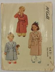 Vintage McCalls 5431 Sewing Pattern
