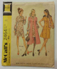 Vintage McCalls 2464 Sewing Pattern