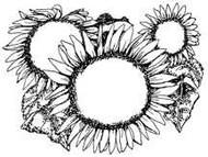 Sunflower Envelope Stamp