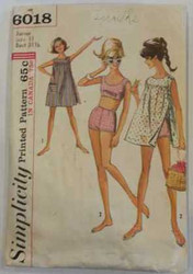 Vintage Simplicity 6018 Sewing Pattern