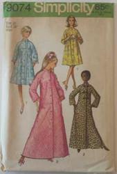 Vintage Simplicity 9074 Sewing Pattern
