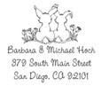 Custom Self Inking Bunny Address Stamp